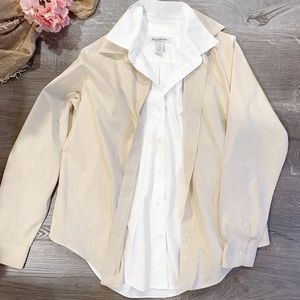 Women's Button Down and Thin Jacket
